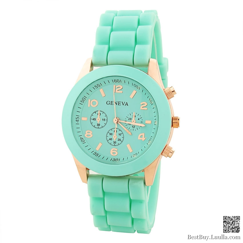 look goldwatch roman band pink fuschia fushia for quartzite numerals green online gold women jewels and shopping blue floral watches mint flower l print watch